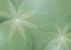 Abstrakcjonistyczny Kwiecisty na Mądrej zieleni tle ilustracja wektor