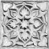Abstrakcjonistyczny kwiecisty ornament, barelief Fotografia Royalty Free