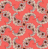 Abstrakcjonistyczny kwiecisty ornamnet Zawijasa liścia ornamentacyjny wzór Obraz Stock