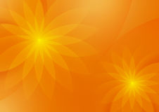Abstrakcjonistyczny Kwiecisty Pomarańczowy tło dla projekta Fotografia Royalty Free