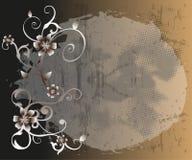 Abstrakcjonistyczny kwiecisty tło Fotografia Royalty Free