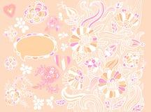 Abstrakcjonistyczny kwiecisty tło Obrazy Royalty Free