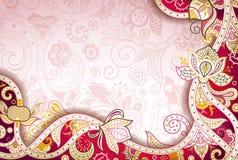 Abstrakcjonistyczny Kwiecisty tło Zdjęcia Royalty Free