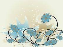 Abstrakcjonistyczny kwiecisty tło ilustracja wektor