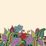Abstrakcjonistyczny kwiecisty tło szablon Zdjęcia Stock