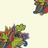Abstrakcjonistyczny kwiecisty tło szablon Zdjęcie Royalty Free