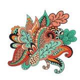 Abstrakcjonistyczny kwiecisty tło szablon Obrazy Royalty Free