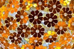 Abstrakcjonistyczny kwiecisty tekstury tło Obrazy Stock