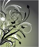 abstrakcjonistyczny kwiecisty wzór Obrazy Stock
