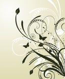 abstrakcjonistyczny kwiecisty wzór Obraz Royalty Free