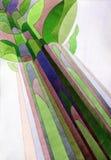 abstrakcjonistyczny las ilustracja wektor