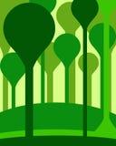 Abstrakcjonistyczny las ilustracji