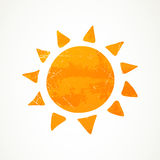 Abstrakcjonistyczny lata słońce Zdjęcia Stock