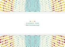 Abstrakcjonistyczny lato kolorowy siatek kropek wzoru tło z szeroką kopii przestrzenią ilustracji