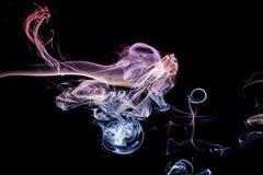 Abstrakcjonistyczny lily błękita dym od aromatycznych kijów Obraz Stock