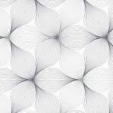 Abstrakcjonistyczny liniowy kwiatu wzór w monochromatycznych stylach Graficzny czyści dla tkaniny, druk, tapetowy i sprawnie wyró obrazy royalty free