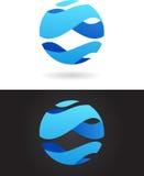 Abstrakcjonistyczny logo ilustracja wektor