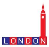 Abstrakcjonistyczny Londyn znak Zdjęcie Stock