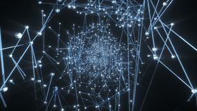 Abstrakcjonistyczny lot Przez cały tunelu molekuły I gwiazdy ilustracji