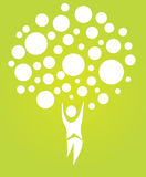 abstrakcjonistyczny ludzki drzewo Zdjęcia Stock