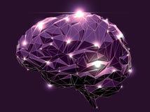 Abstrakcjonistyczny ludzki mózg Obraz Royalty Free