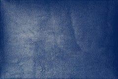 Abstrakcjonistyczny luksusowy rzemienny zmrok - błękitna tekstura dla tła Fotografia Stock