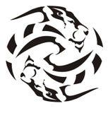 Abstrakcjonistyczny lwa okrąg Ilustracja Wektor