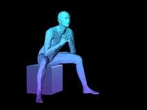 Abstrakcjonistyczny mężczyzna ciało Fotografia Royalty Free