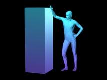 Abstrakcjonistyczny mężczyzna ciało Zdjęcia Stock