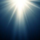 Abstrakcjonistyczny magiczny błękita światła tło Fotografia Stock