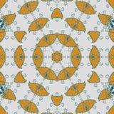 Abstrakcjonistyczny mandala projekta szablon royalty ilustracja