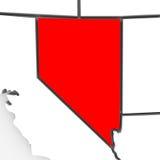 abstrakcjonistyczny mapy Nevada stan Zdjęcia Royalty Free