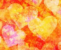 Abstrakcjonistyczny marzycielski serca tło ilustracja wektor