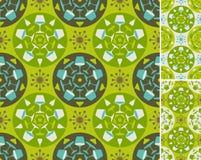 abstrakcjonistyczny meble zieleni wzór Fotografia Stock