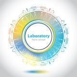 Abstrakcjonistyczny medycznego laboratorium emblemat - okręgu element Zdjęcie Royalty Free