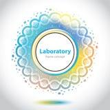 Abstrakcjonistyczny medycznego laboratorium emblemat - okręgu element Obraz Royalty Free