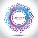 Abstrakcjonistyczny medycznego laboratorium emblemat - okręgu element Fotografia Royalty Free