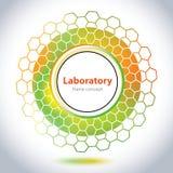 Abstrakcjonistyczny medycznego laboratorium emblemat - okręgu element Fotografia Stock