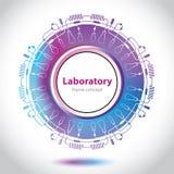 Abstrakcjonistyczny medycznego laboratorium emblemat - okręgu element Obraz Stock