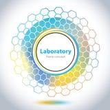 Abstrakcjonistyczny medycznego laboratorium emblemat - okręgu element Obrazy Royalty Free