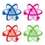 Abstrakcjonistyczny medyczny lub chemia symbol atom Zdjęcie Stock
