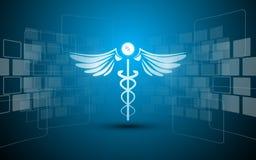 Abstrakcjonistyczny medyczny opieki zdrowotnej apteki leka projekta prostokąta wzoru innowaci pojęcia tło Zdjęcia Stock