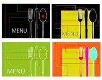 abstrakcjonistyczny menu Fotografia Stock