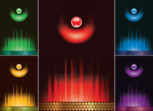 abstrakcjonistyczny menu setu wektor Obraz Stock