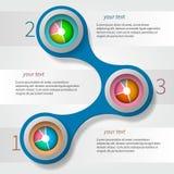 Abstrakcjonistyczny metaball infographics cień Zdjęcia Stock
