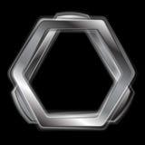 Abstrakcjonistyczny metalu kształta loga projekt Zdjęcia Stock