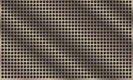 Abstrakcjonistyczny metalu tło z okręgiem patern Obraz Stock