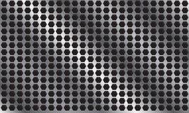 Abstrakcjonistyczny metalu tło z sześciokątem patern Zdjęcia Royalty Free