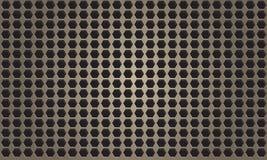 Abstrakcjonistyczny metalu tło z sześciokątem patern Fotografia Royalty Free