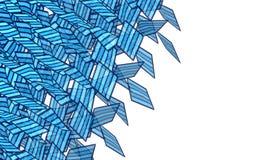 Abstrakcjonistyczny miękki błękit rozpadający się graffiti kiści kształt Obraz Stock
